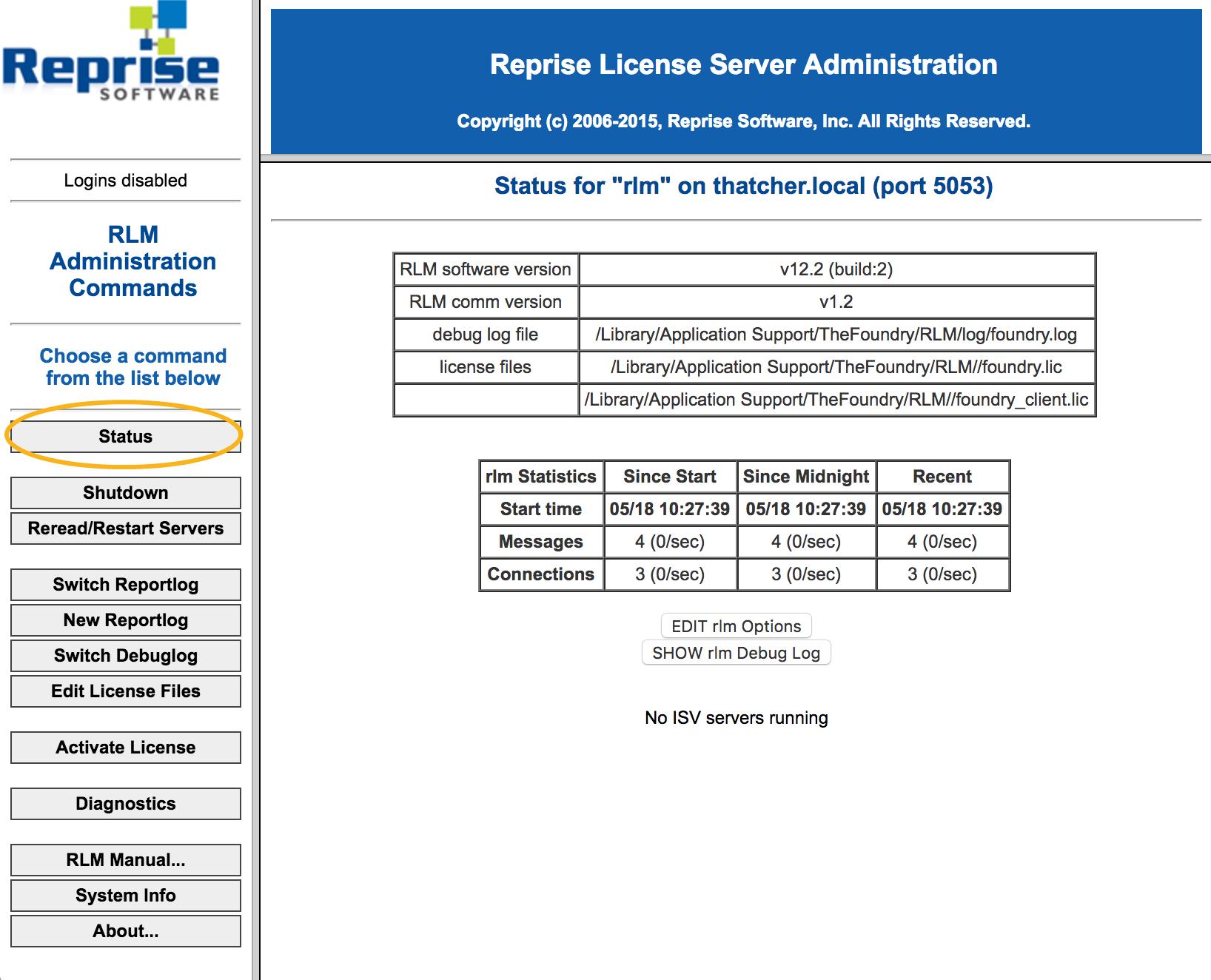 Managing the License Server