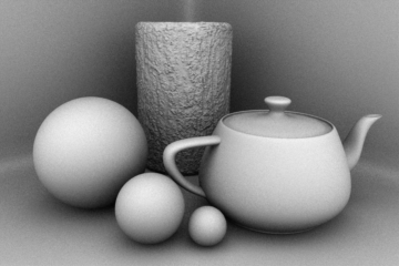 The Ambient Occlusion output generates an occlusion image where occluded areas such as crevices and other inaccessible areas of a scene shade darker ... & Lighting Render Outputs