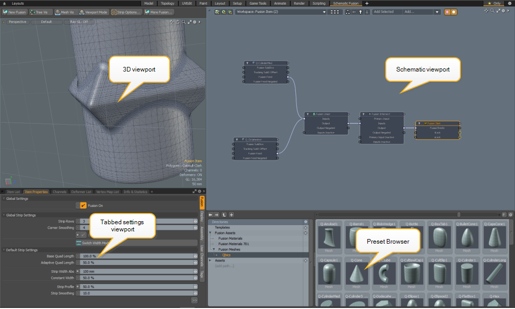 Modeling in the Schematic Viewport